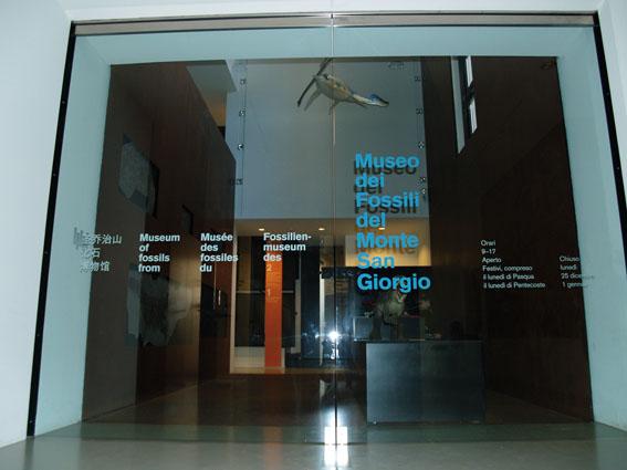 Meride_Museo dei fossili_entrata
