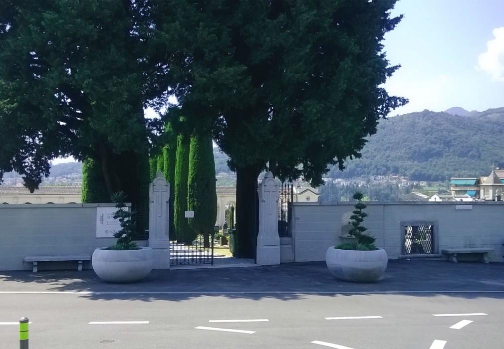 cimitero Mendrisio entrata